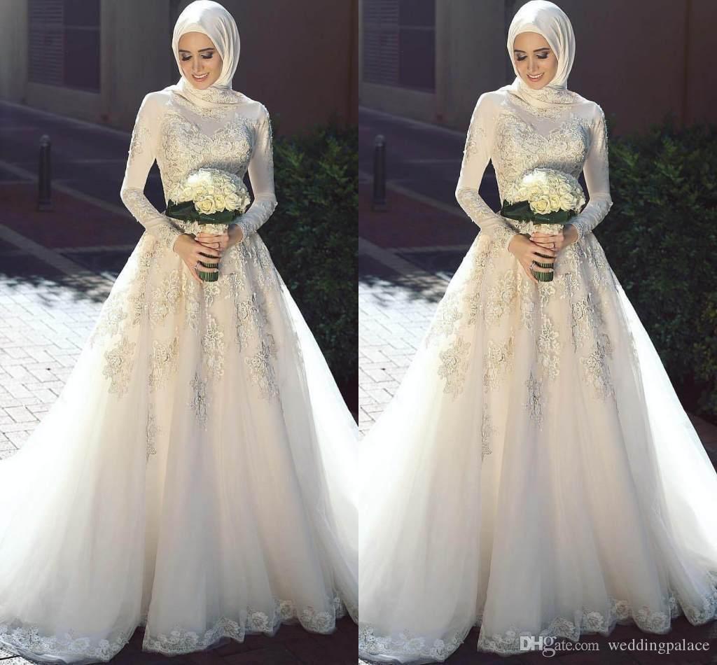 Beautiful Muslim Bridal Gown Embellishment - Colorful Wedding Dress ...