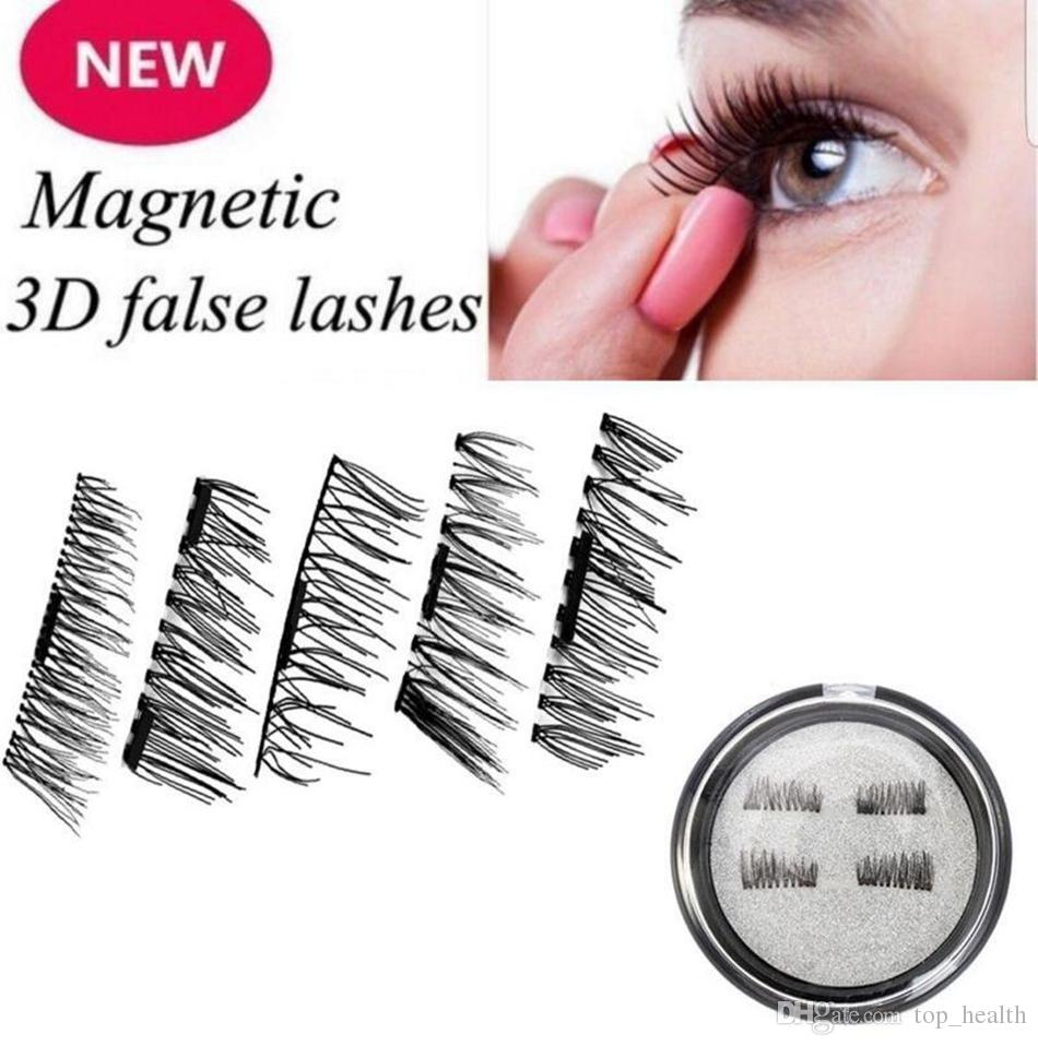 55c3592a3c9 Magnetic Eyelashes 3D Reusable Fake Comfort Lashes No Glue Natural Look Eye  Beauty Makeup Eye Lashes OOA3885 Eyelash Extension Kits Eyelash Extension  ...