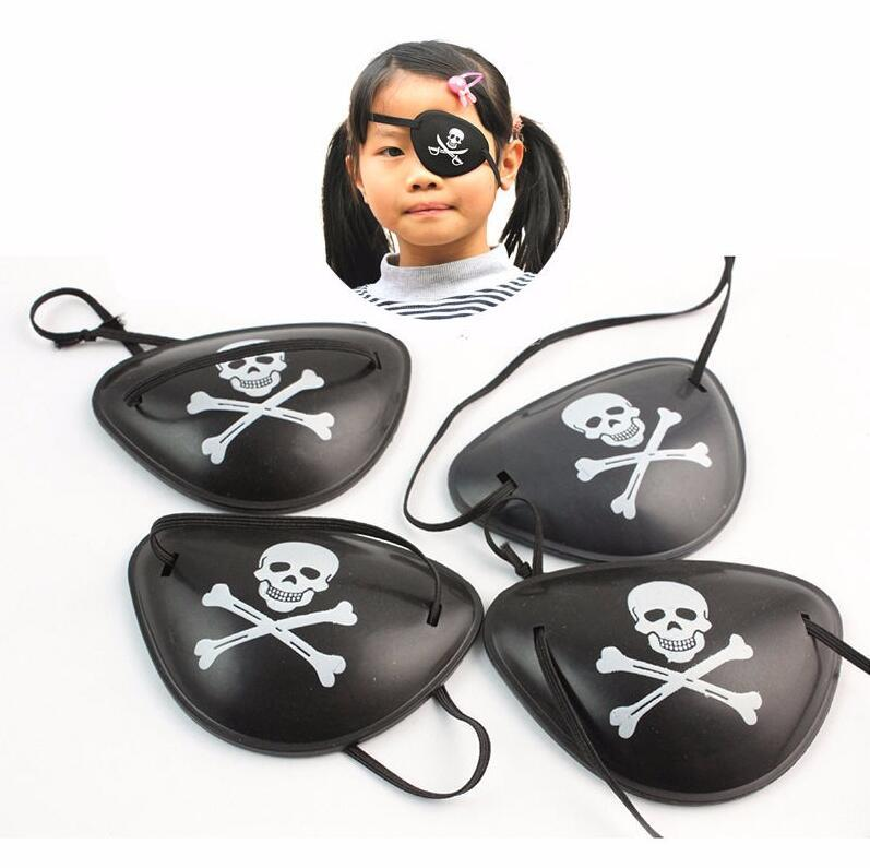 Pirate Eye Patch Halloween Party Black Pirate Costume Concave Eye Patch 3D Foam Groove Eyeshade Hot Eye Patch Kids Toy Party Supplies