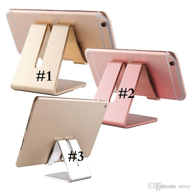 Universal Aluminum Metal Mobile Phone Tablet Holder Desk Stand for cell phone ipad