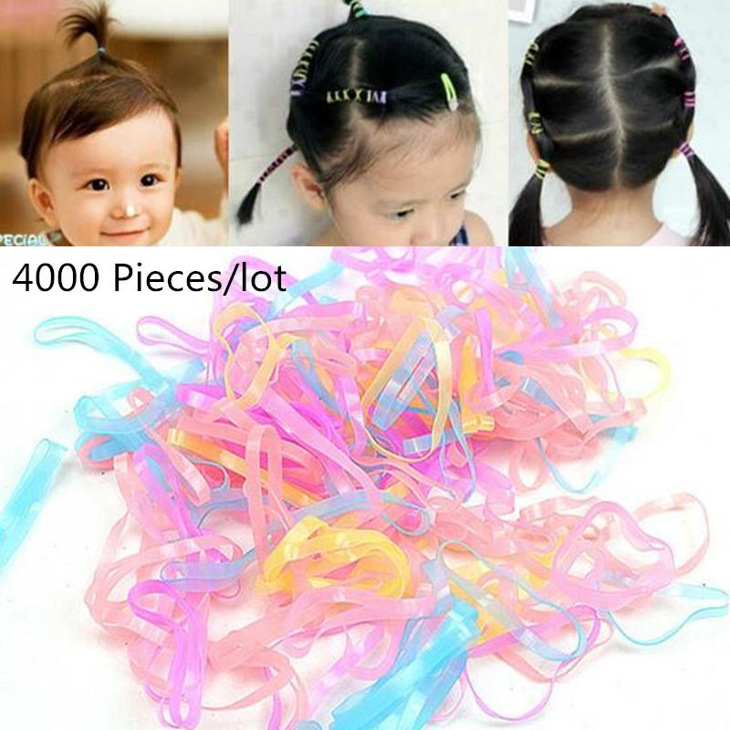 New Candy Color Headband Child Baby Hair Holders Rubber Bands