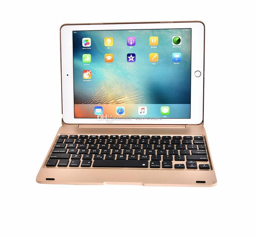 Padpro9.7 Padair 2 Smart Cover Folio Wireless Bluetooth 3 Keyboard Aluminum ABS C098 with 80mAh Battery