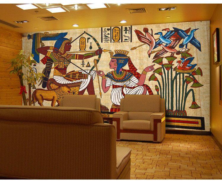 Compre Antiguos Murales Egipcios Dream Sala De Estar Dormitorio Tv