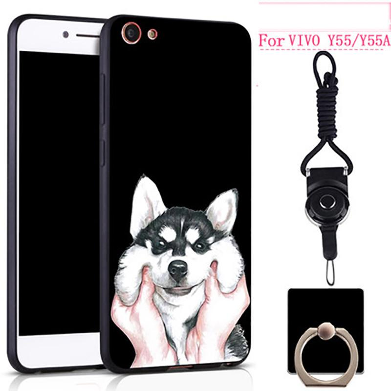 premium selection cd140 2a875 For Vivo Y55 Y55A Case Cover Soft TPU Silicone Cover Cute Animal Flower  Patterned Luxury Phone Case For Vivo Y 55 Y 55A