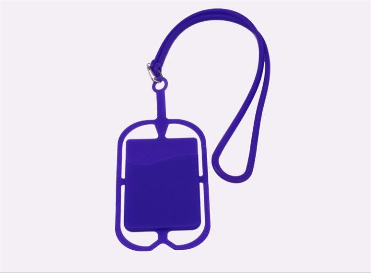 2018 promotion item 3m sticker smart wallet mobile card holder cell phone credit lanyard card holder silicone mobile phone card holder