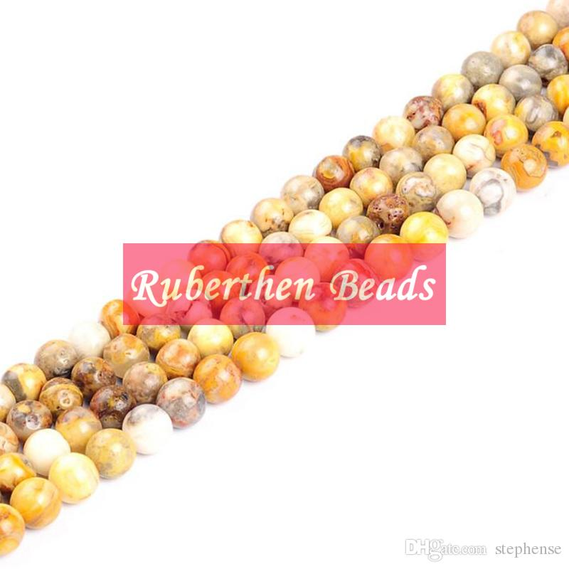 NB0080 Hot Sale Natural Stone Crazy Lace Agate Loose Beads High Quantity Stone Wholesale Round Beads Jewelry Making Accessory