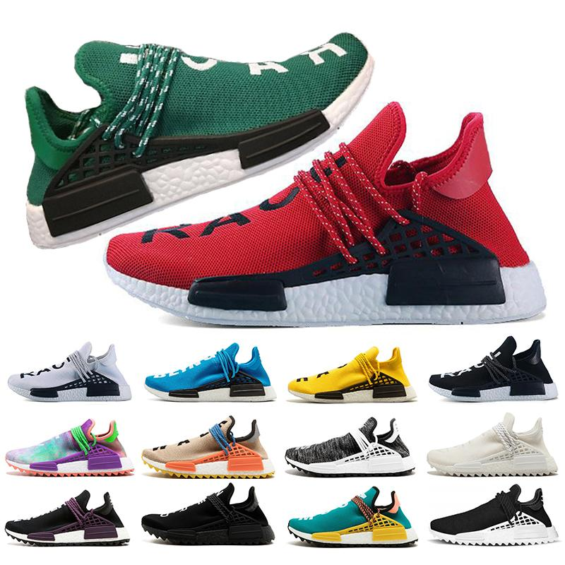 be2ef85889655 2019 Pharrell Williams Nmd Human Race Runnning Shoes Red Green Cream Core  Black Equality White Blue Trainers Men Women Sports Sneaker Running Clothes  Sports ...
