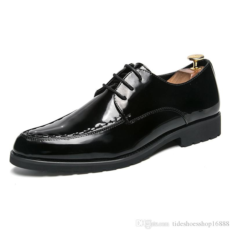 babe94c087bf Mens Formal Tassel Slip On Patent Leather Dress Shoes Men Luxury Brand Pointed  Toe Ballet Flats Male Italian Elegant Business Oxford Shoes Green Shoes  Boots ...
