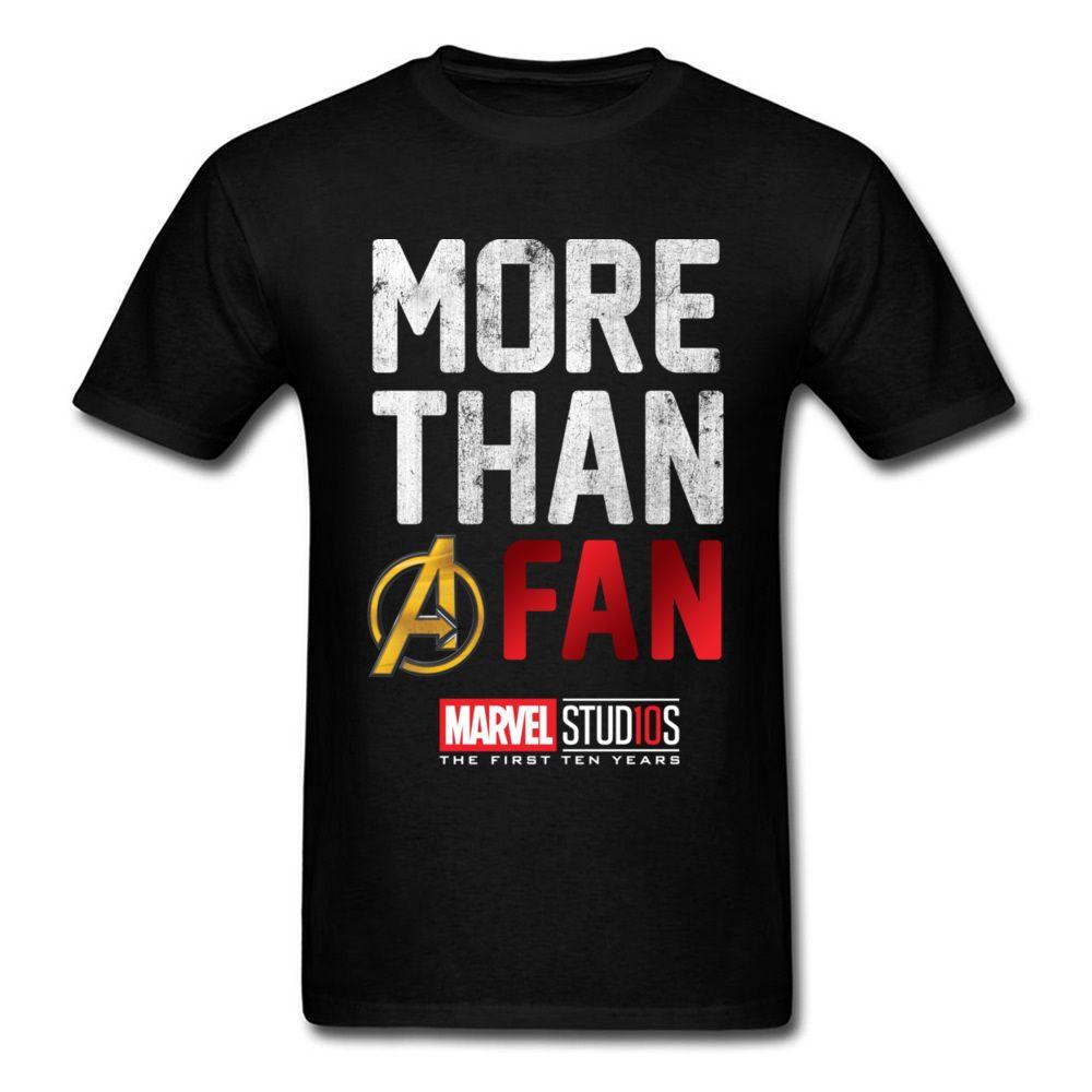 95008635de8 Avengers More Than A Fan T Shirt Men Tshirt Letter T Shirt Vintage Tee  Marvel Top Comics Clothing Logo Streetwear Black One Tee A Day Random  Graphic Tees ...