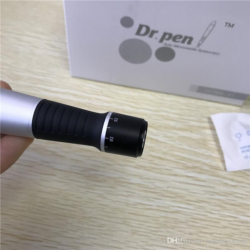 Dr. Pen ULTIMA-A1 Derma Pen Auto Microneedle System Adjustable Needle Lengths 0.25mm-3.0mm Electric Derma Dr.Pen Stamp DHL