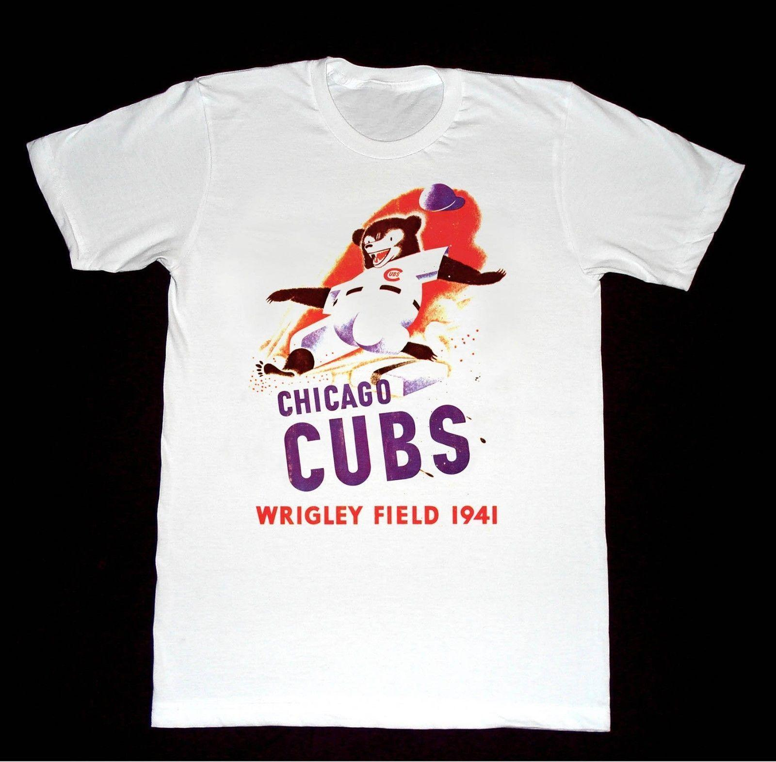 58672b03b Chicago Cubs 1941 Wrigley Field Tshirt Rude Tshirts Offensive Tee Shirts  From Valuebuy, $11.01| DHgate.Com