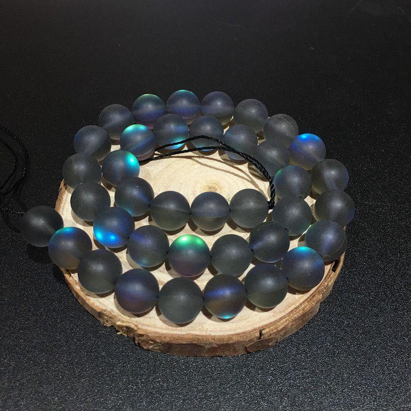 8mm polonês maçante fosco multicolor moonstone beads solto de cristal de quartzo rodada pedra flash beads diy strand 15
