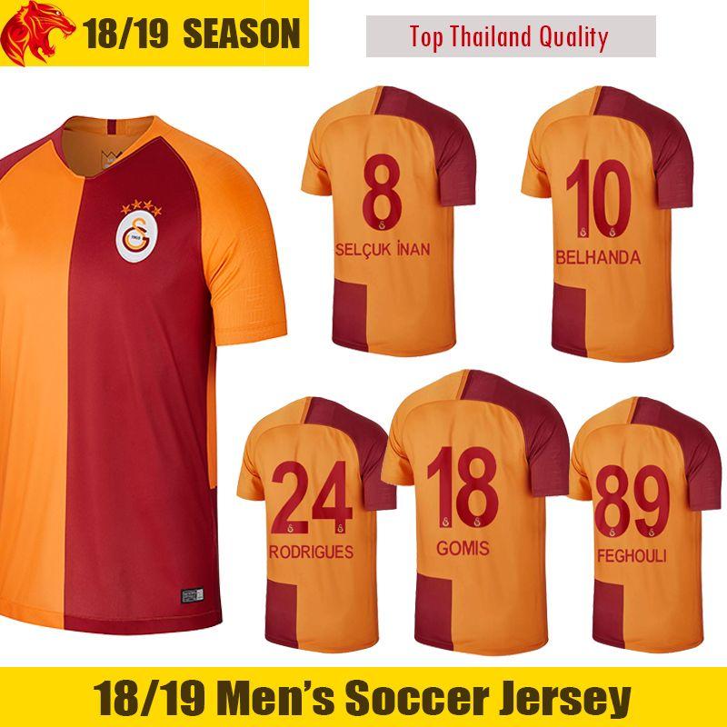 e20009e8f5a 2019 18 19 Galatasaray Soccer Jerseys MAICON SELCUK INAN 2018 2019 GOMIS Galatasaray  Jersey BELHANDA T.CIGERCI RODRIGUES FEGHOULI Football Jersey From ...