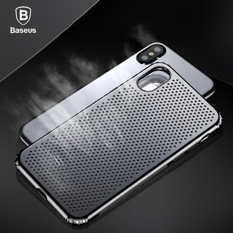 Baseus Creative Hollow Case per iPhone X Custodia rigida in plastica rigida per iPhone X Custodie Cover antiurto per cellulare