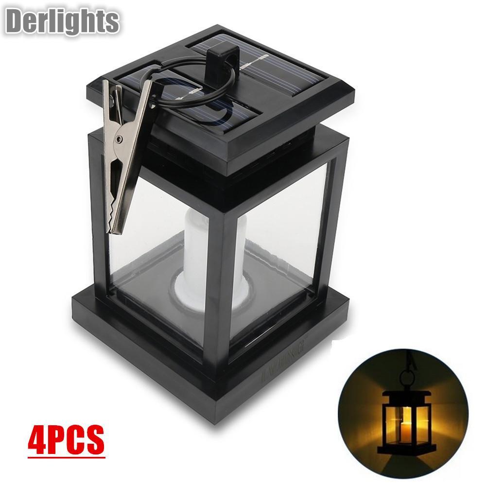 Acheter Led Lampe Solaire Conduit Bougie Lanterne Patio Lustre ...