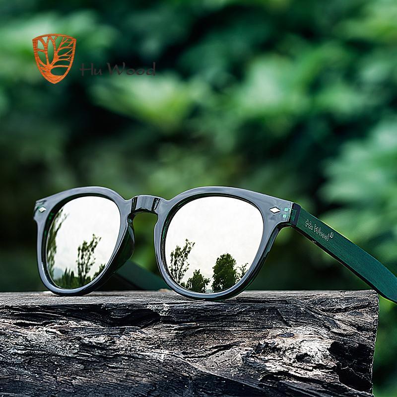 c902e7fa9f11 HU WOOD SKATEBOARD Wooden Sunglasses Women Plastic Frame Fashion Shades  Blue Mirror Sun Glasses For Men Round Sunglass GRS8017 Glass Frames Online  ...