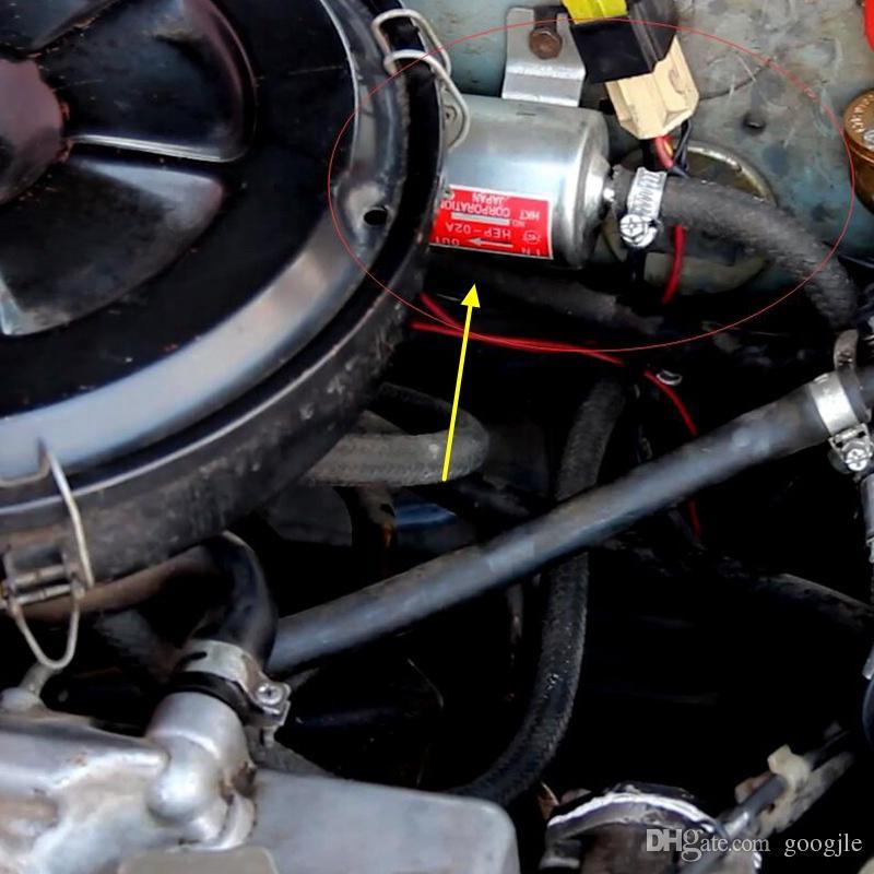 Nuevo 12 V Eléctrico Bomba de Combustible de Baja Presión de Perno de Fijación de Alambre Diesel Gasolina HEP-02A Para Carburador de Coche de La Motocicleta ATV