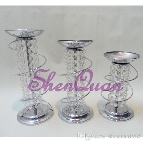 bougeoir en verre personnalisé Saint Valentin, centre de table clair de haute qualité de bâton de bougie à vendre par ensemble
