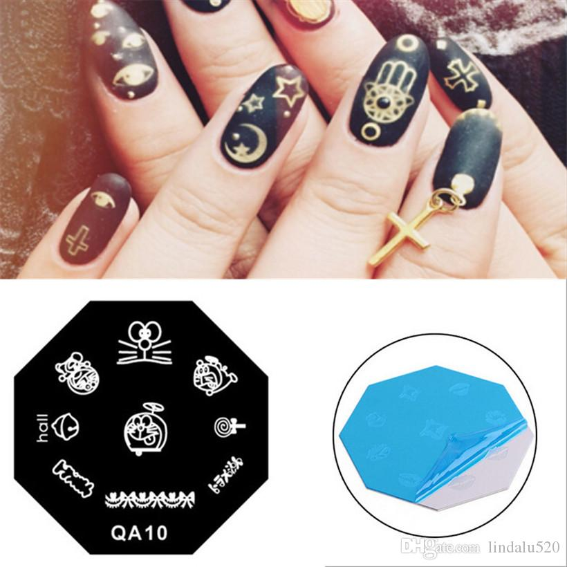 Cute Doraemon Mouse Pattern Diy Painting Nail Art Stamp Stainless