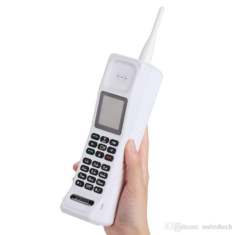 Retro Style Big Brother Mobile Phone Antenna Good Signal Power Bank Extroverted FM Bluetooth torch Flashlight GPRS Dual Sim Card Telephone