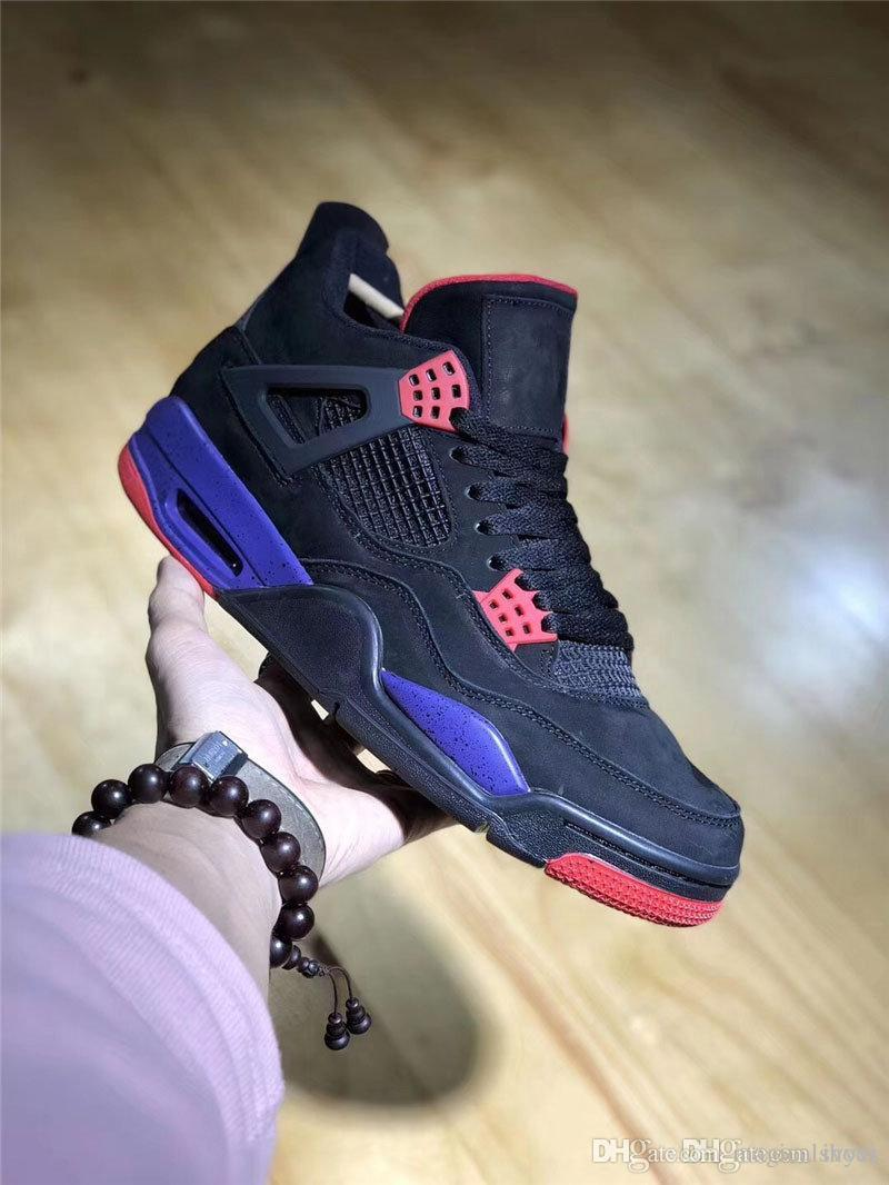 2018 New Release 4 NRG Raptors 4S IV Basketball Shoes Sneakers Men Black  Purple Red AQ3816-056 With Original Box Best US40-47 3660e6149