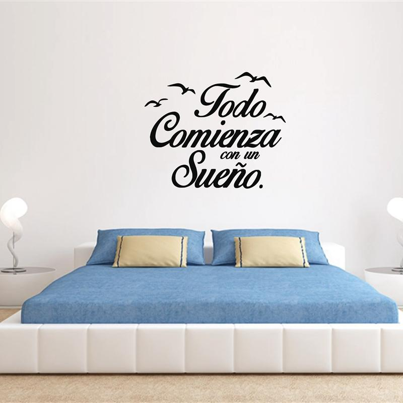 Removable Spanish Wall Decal Vinyl Stickers Motivation Quote Wall
