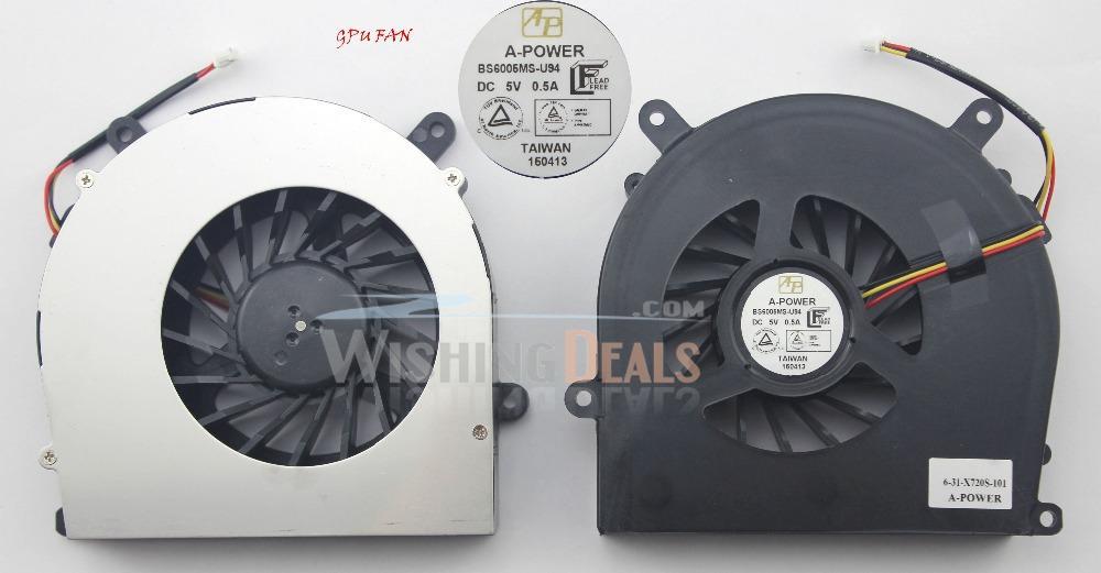 New Laptop GPU Fan for Clevo P150SM P150SM-A P150HM P151HM P151HM1 P151SM  P151SM-A