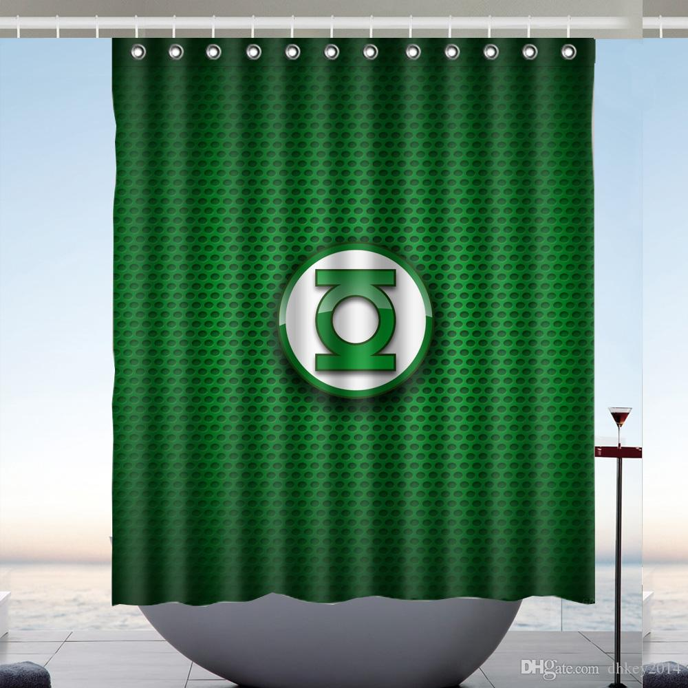 2019 Custom Green Lantern Waterproof Bathroom Shower Curtain Polyester Fabric Size 60 X 72 From Dhkey2014 3517