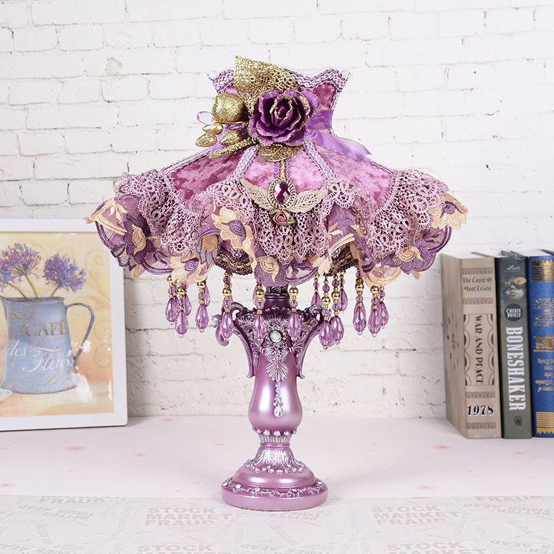 2018 Creative Resin Table Lamp Bedroom Bedside Flower Birthday Wedding Decorating Desk Light Living Room Modern Led Lamps From