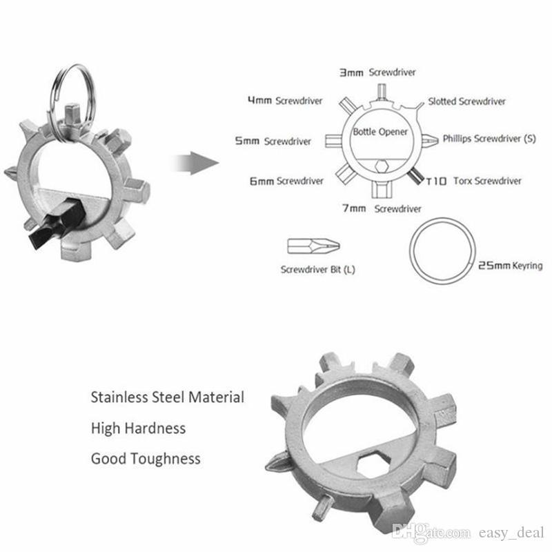 10 in 1 multifunzionale cacciavite portachiavi all'aperto strumenti di riparazione di biciclette strumenti EDC kit portatile polpo strumento di riparazione quotidiana F20172880