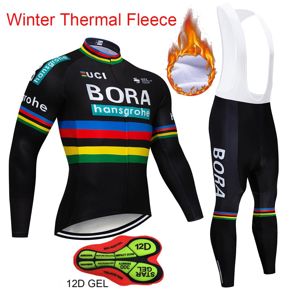 7c6bb8a00 Hot Sale 2018 BORA Winter Thermal Fleece Long Sleeves Cycling Jersey Set  Clothing Bike Clothes Wear MTB Bicycle Maillot Ropa Ciclismo Biker T Shirts  Sports ...