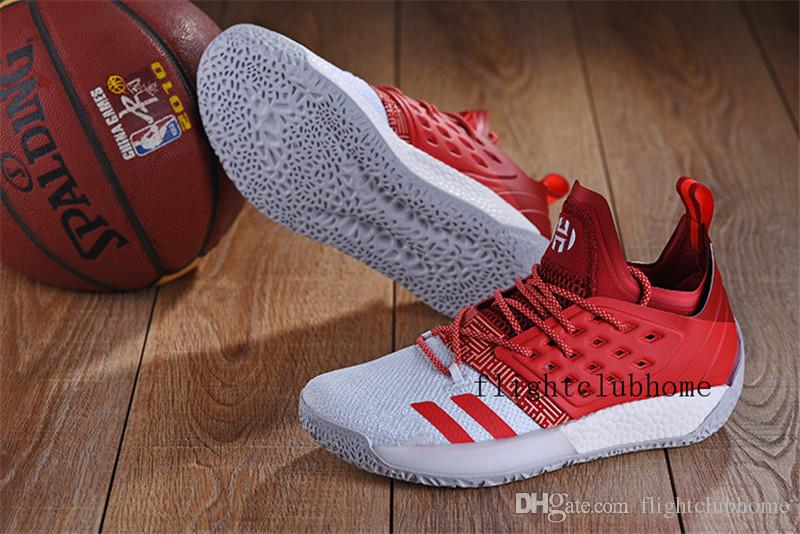 5081f9653f9e22 ... 2018 new arrival james harden vol.2 red cool grey basketball shoes mens  harden vol