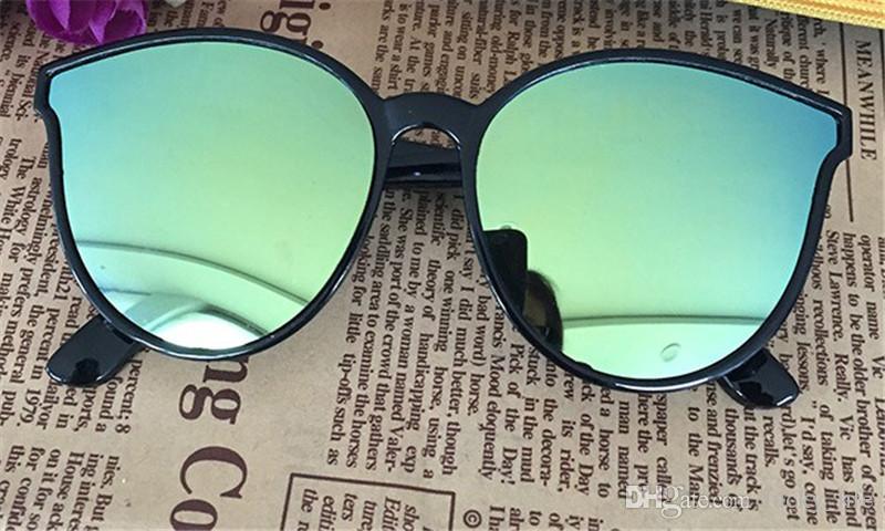 2018 nova marca cat eye glasses meninas meninos óculos de condução cor filme óculos de sol por atacado óculos de sol frete grátis