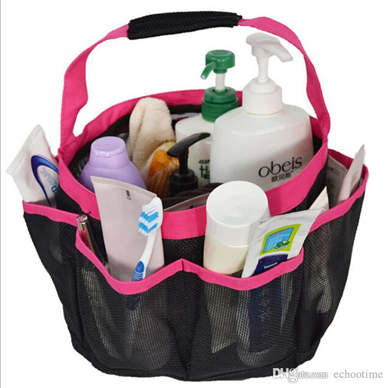 2018 Hotsale 8 Pocket Mesh Shower Caddy Tote Wash Bag Dorm Bathroom ...