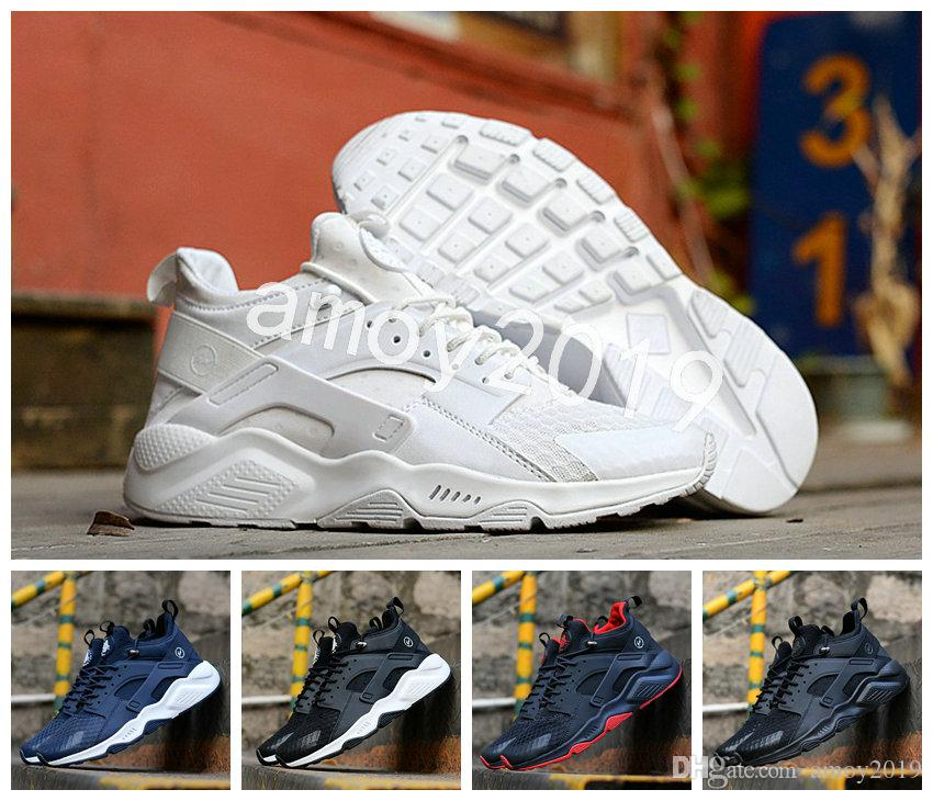 ea2545022aa7 2018 Air Huarache Hiroshi Fujiwara X Acronym City MID Leather Huaraches  Mens Trainers Running Shoes Men Huraches Zapatos Hurache Sneakers Running  Shoes For ...