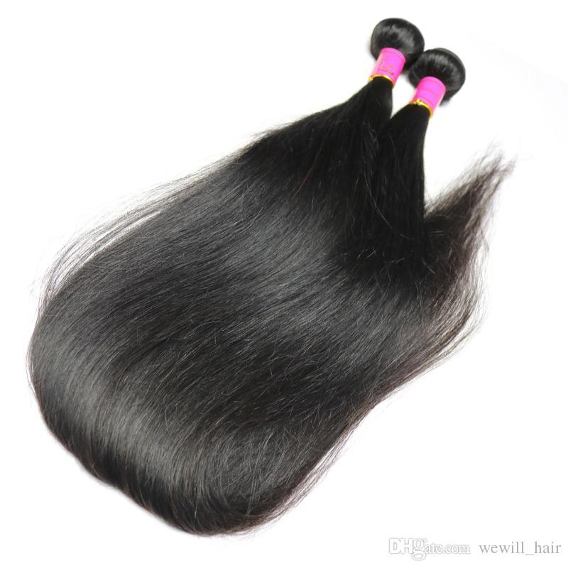 البرازيلي العذراء الشعر مستقيم الإنسان الشعر نسج حزم 28 30 32 34 36 38 40 بوصة أطول بيرو الماليزية الهندية ريمي الشعر