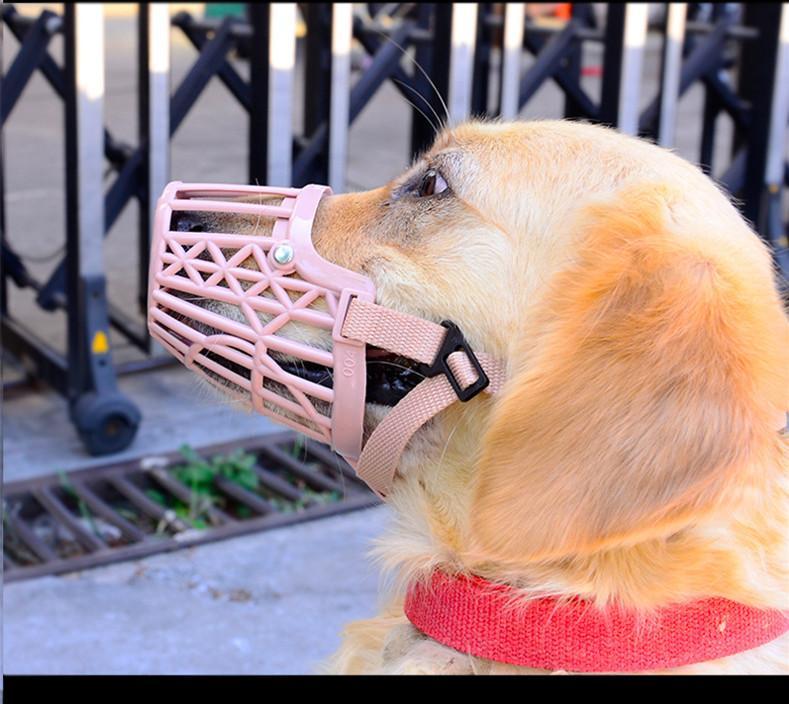 Coperchio bocca in plastica a maglie regolabili cuccioli di cane con maschera anti-morso cani, taglia 7, dimensioni 1 pz