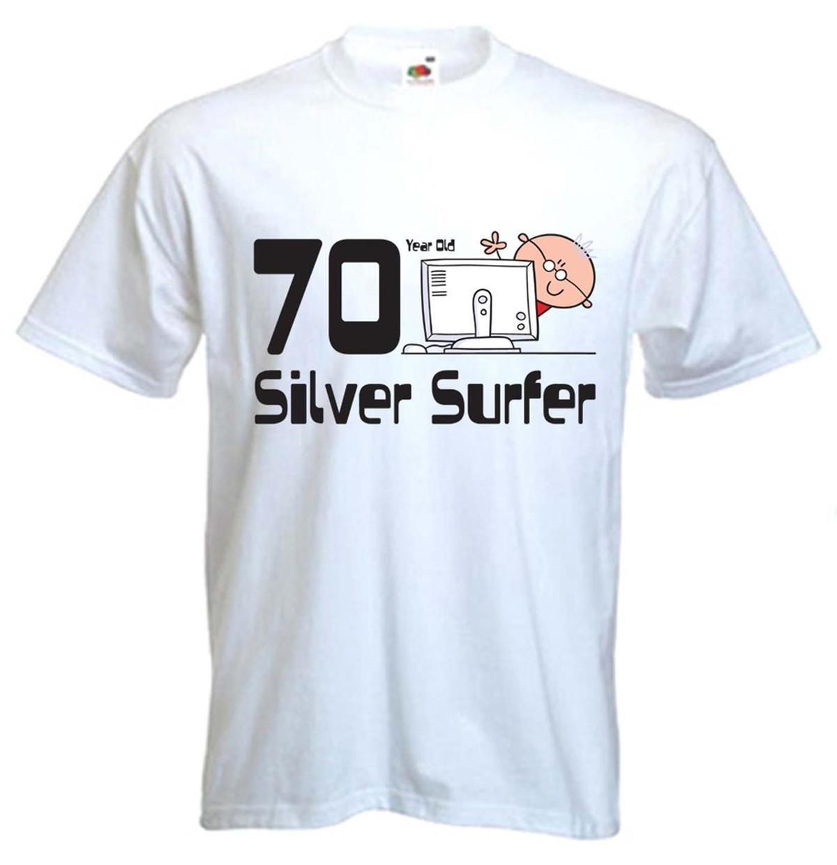 SILVER SURFER 70TH BIRTHDAY T SHIRT Gift Present Sizes Small To Hot Selling 100 Cotton Tee Shirts Top Funny For Guys Fashion From