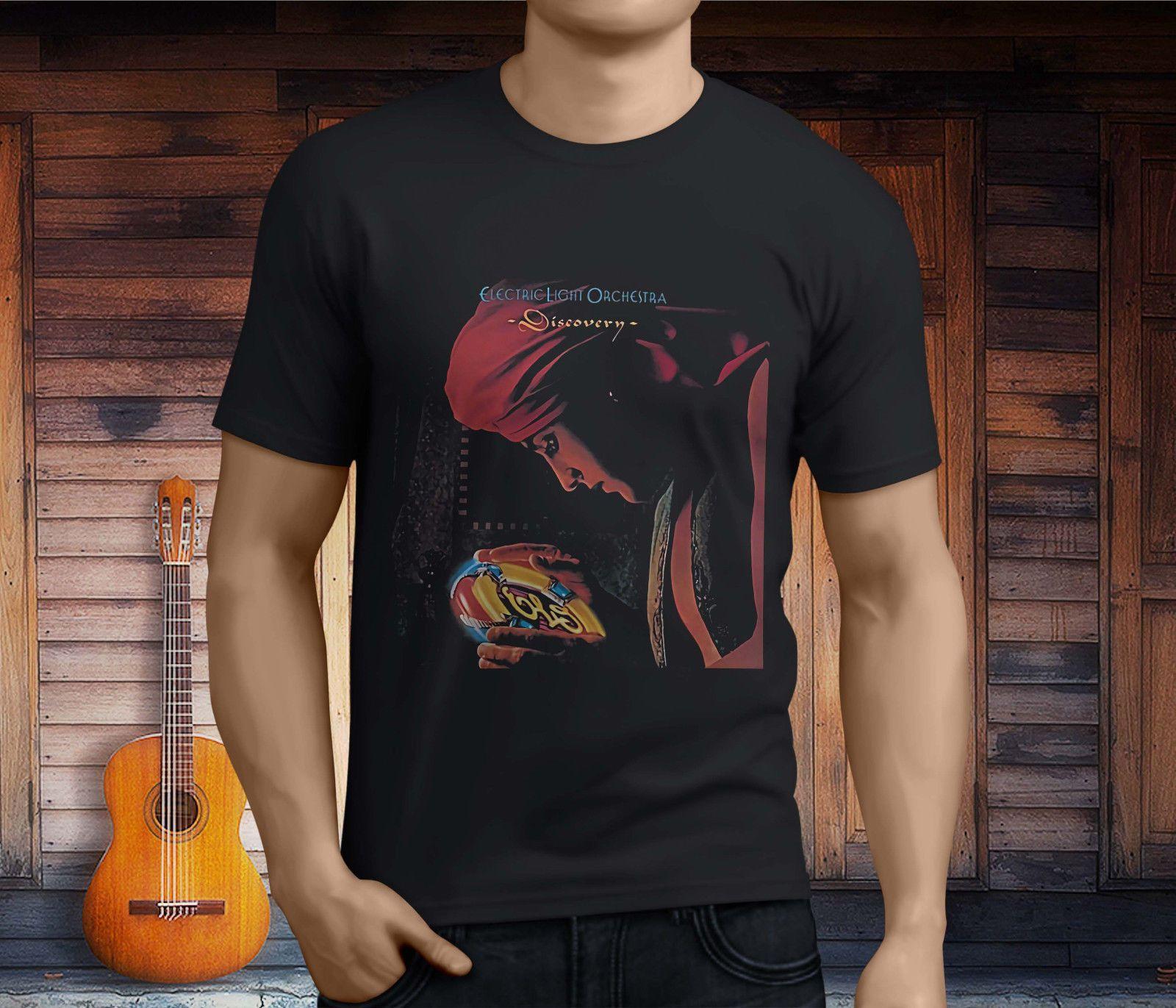 2397ed8239 Compre Nuevo ELO Electric Light Orchestra Discovery Music Camiseta Negra  Para Hombre Talla S 3XL A  11.01 Del Funnytee