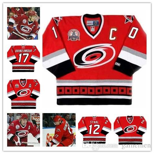 2019 Custom Carolina Hurricanes 10 RON FRANCIS 12 ERIC STAAL 17 ROD  BRIND AMOUR Men S Women Youth CCM Away Vintage Ice Hockey Stitched Kid Jersey  From ... 927517052