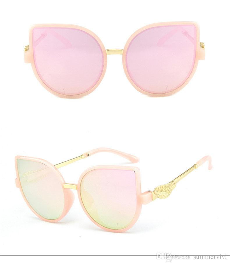 Girls Boys Fashion Sunglasses brand Kids Sunglasses Children Sun Glasses Baby cute cat ears Eyeglasses Children Beach Sunblock YA0081