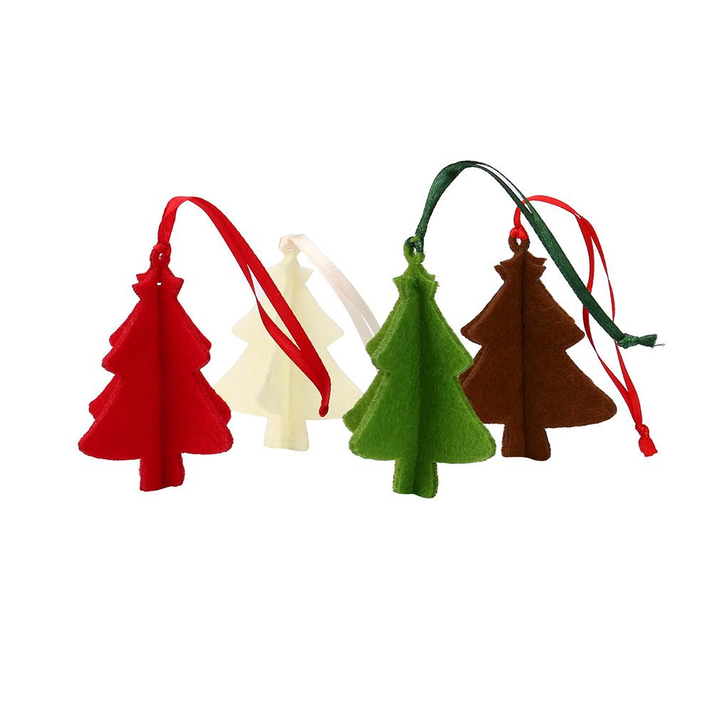 10PC Christmas Tree Ornament Hanging Pendant Embellishment Felt Craft Gifts Party Decor Pendants Wholesale noOT25
