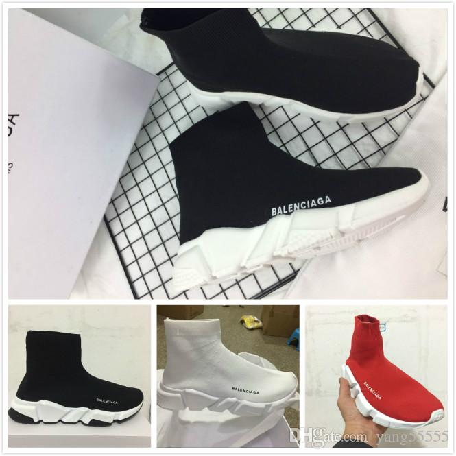 Sock Shoes Cheap 2018 Women Men Sock Running Shoes Black White Red Grey Speed stretch-knit Sneakers Mesh High Top Shoes size 36-45 free shipping 2015 new free shipping huge surprise sale low price fee shipping cheap sale under $60 cheap get authentic aQ4ku