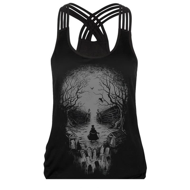2018 summer 3D lion Print vest Fashion women sexy tank tops 3D color animal printed sleeveless Sling hollow out ladies hip hop for woman