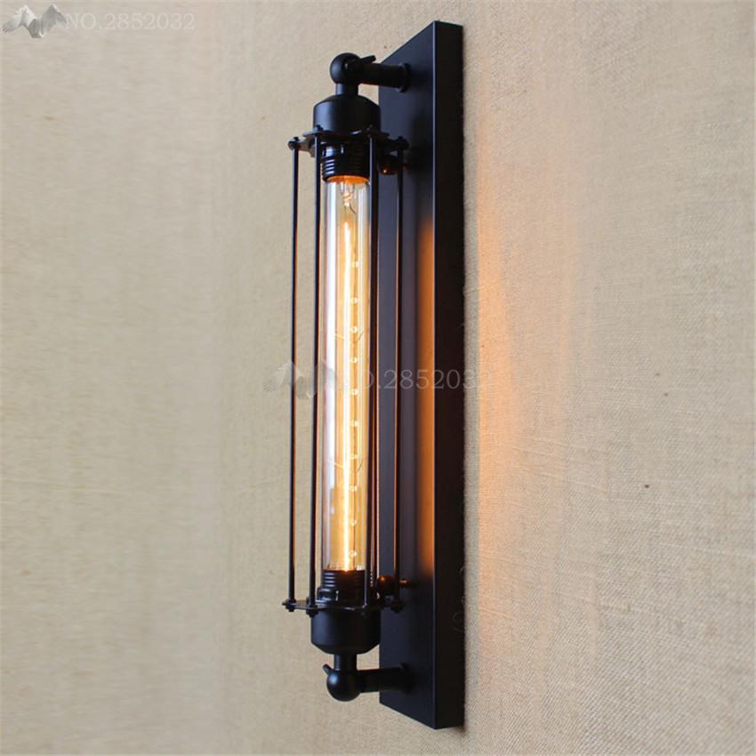 Acheter Lfh Vintage Retro En Metal Cage Mur Lampe Chambre Edison