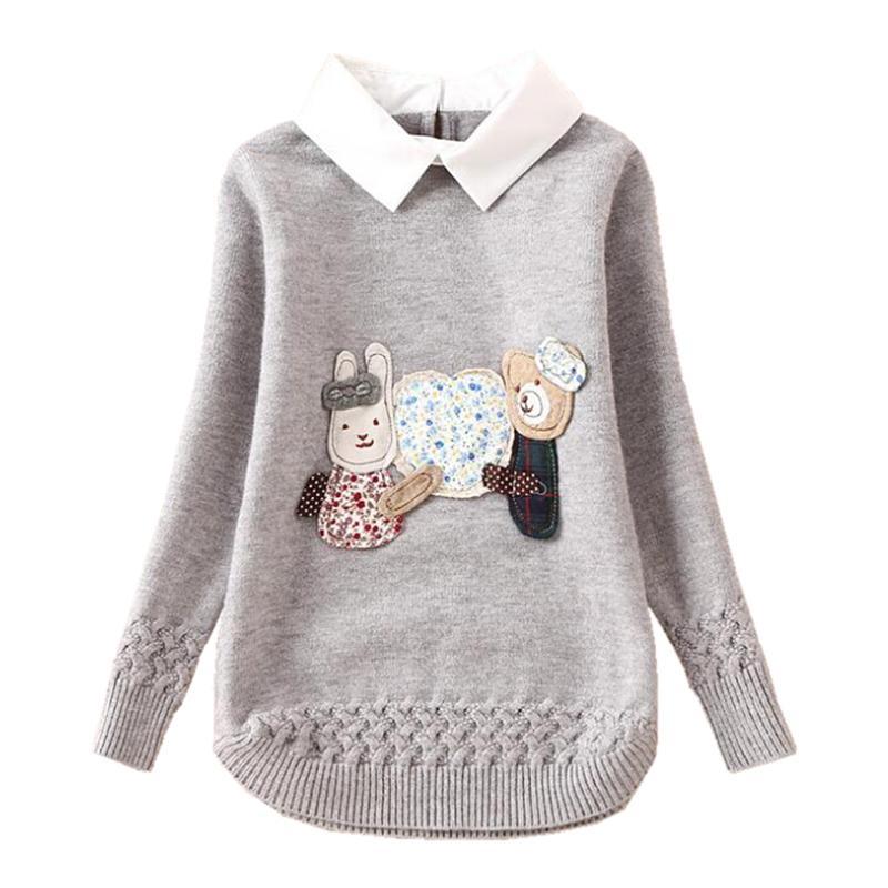Compre Toddler Teenage Girls Suéteres Dibujos Animados Primavera ...