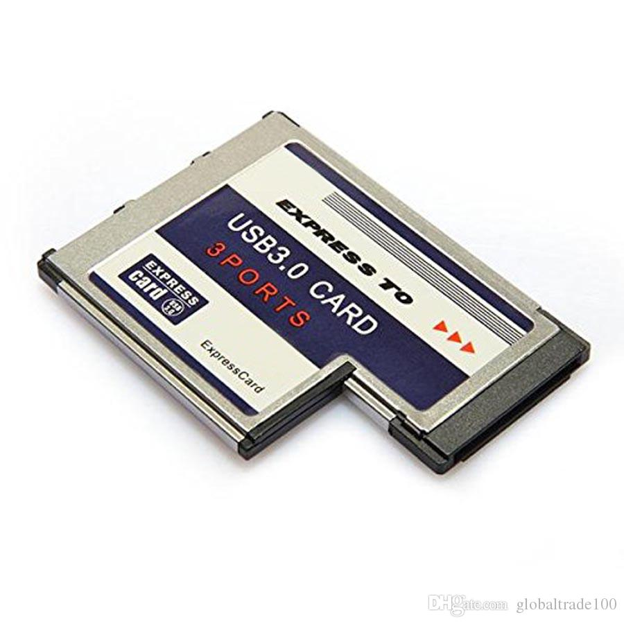 Expresscard Hidden Inside 3 Port USB 3.0 Express Card Express34/54MM PCMCIA Express Card Adapter Converter for Laptop