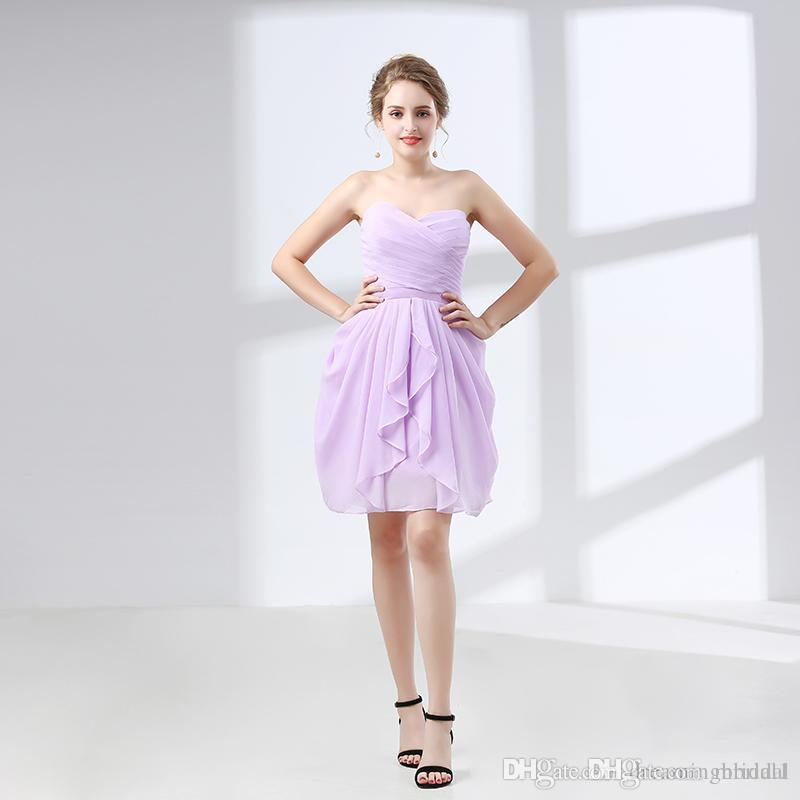 Cheap Short Prom Dresses Ruffles Sweetheart Sleeveless Lace Up ...