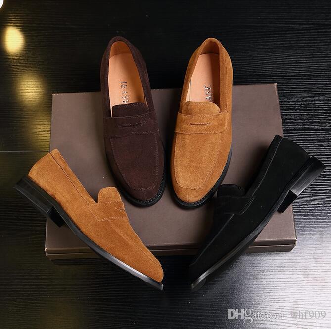 fdf1619efc Compre Homens Marca De Luxo Loafer Sapatos De Couro Genuíno Do Sexo  Masculino Estilo Celebridade Mocassim Senhores De Couro De Porco Forro  Sapatos Tamanho ...