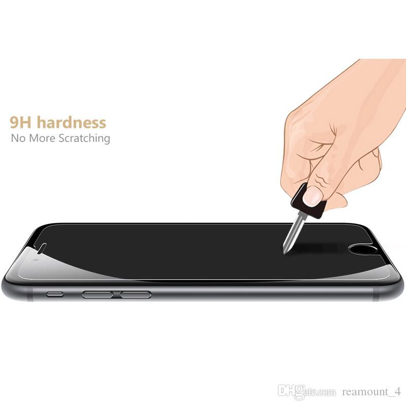 IPhone 8 8 için Artı Ekran Temizle Koruyucu Film için iPhone 6 6 Artı 0.3 MM 2.5D Temperli Cam Alkol Paketi ile